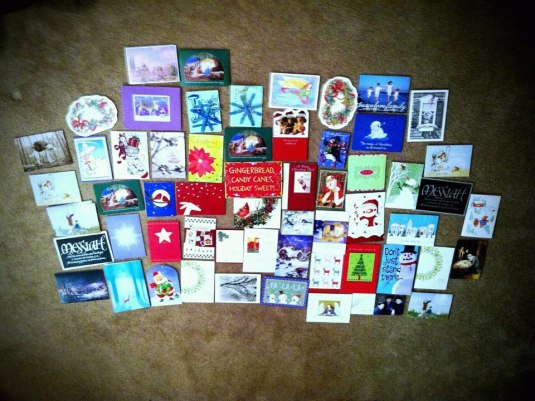 Just a few of the cards they received...